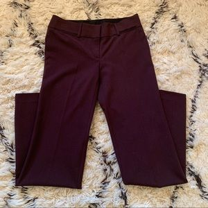 LOFT Maroon Marisa Trouser Pants - 2